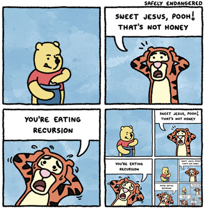 Winnie The Pooh Eating Recursion